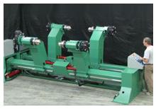 Model DU Dual Roll shaftless unwind reel stand